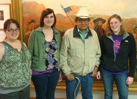 2011 custer battlefield museum interns with pius real bird