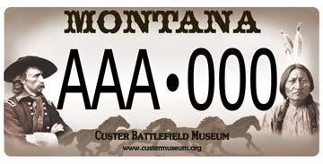 custer battlefield museum license plate