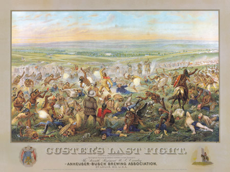 custers last fight anheuser busch print